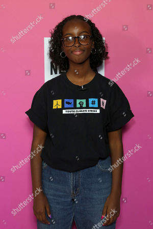 Stock Picture of Isra Hirsi attends the 2019 Power Women Summit at the Fairmont Miramar hotel, in Santa Monica, Calif