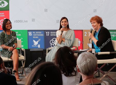 Dia Mirza, Actress, SDG Advocate, and UN Environment Goodwill Ambassador During a Panel on Climate Changes, Plastic and Clean Energy