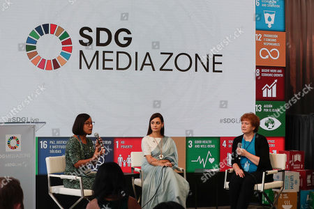 Editorial picture of SDGs Media Zone for Climate Action on Plastic, New York, USA - 23 Sep 2019