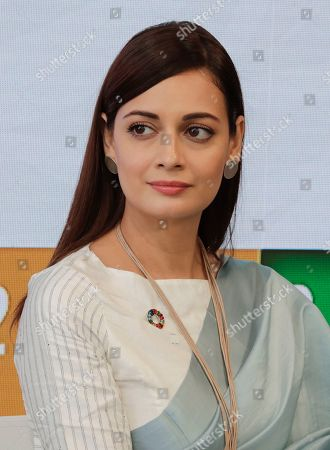 Stock Picture of Dia Mirza, Actress, SDG Advocate, and UN Environment Goodwill Ambassador During a Panel on Climate Changes, Plastic and Clean Energy