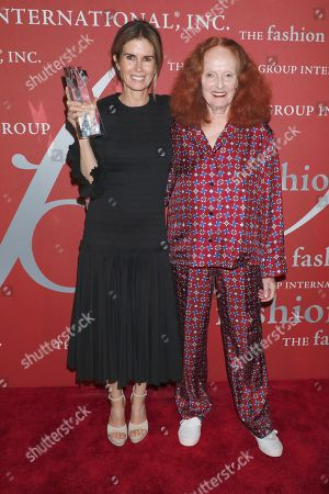 Stock Image of Gucci Westman and Grace Coddington