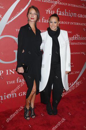 Christy Turlington and Donna Karan