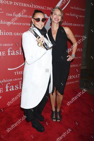 Donna Karan and Christy Turlington