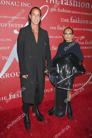 Rick Owens and Michele Lamy