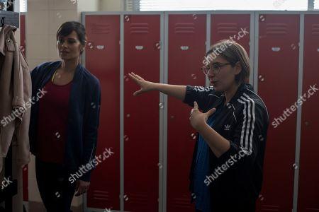 Stock Photo of Claudia Pandolfi as Monica Petrelli Younes and Letizia Lamartire Director