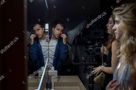 Stock Picture of Andrea De Sica Director and Benedetta Porcaroli as Chiara Altieri