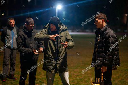 Andrea De Sica Director and Riccardo Mandolini as Damiano Younes