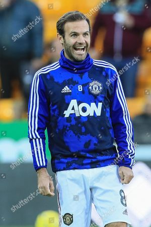 27th October 2019, Carrow Road, Norwich, England; Premier League, Norwich City v Manchester United : Juan Mata (8) of Manchester United warming up  Credit: Mark Cosgrove/News Images