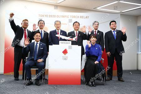 (Top L-R) Mikio Date, Yuji Hirako, Yoshiro Mori, Toshiaki Endo, Yuji Akasaka, Takeshi Tomizawa (Bottom L-R) Tadahiro Nomura, Saori Yoshida.
