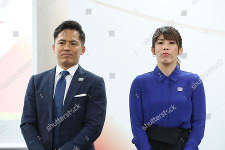 (L-R) Tadahiro Nomura, Saori Yoshida.