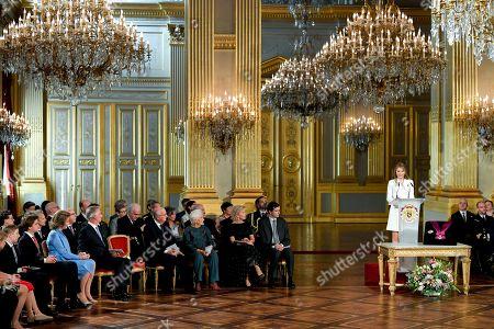 Princess Elisabeth, Queen Mathilde, King Philippe, Prince Gabriel, King Albert II, Queen Paola