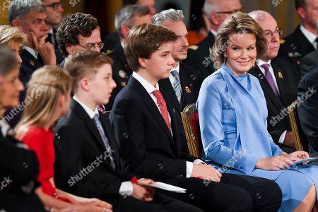 Princess Eleonore, Prince Emmanuel, Prince Gabriel, Queen Mathilde