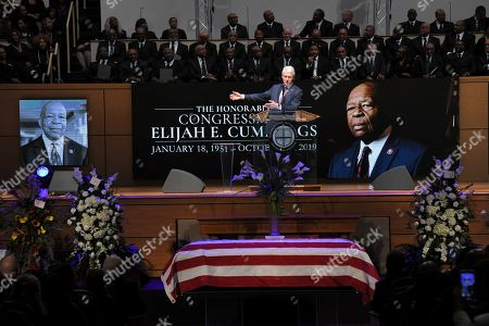 Elijah Cummings Funeral. The Honorable William Jefferson Clinton, 42nd President of the United States speaks about Elijah Cummings at the funeral for U.S. Rep. Elijah Cummings at the New Psalmist Baptist Church in Baltimore, MD