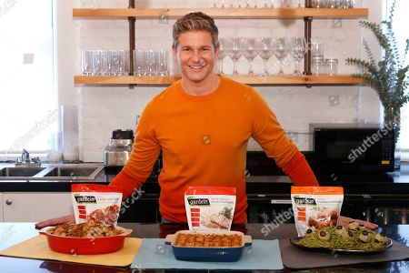 David Burtka creates plant-based recipes in partnership with Gardein: Thanksgiving Stuffing with Sliced Italian Saus'age, Spooky Spaghetti with Ghoul Eye Meatballs, and Chick'n Tot Pie, in New York