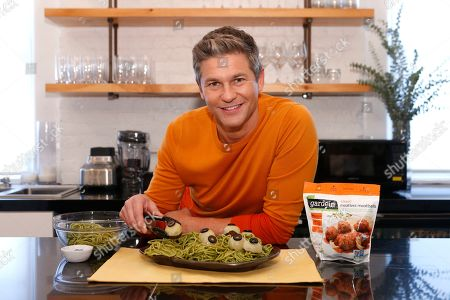 David Burtka creates his favorite plant-based Halloween dish with spooky meatballs in partnership with Gardein, in New York