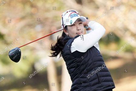 Stock Image of A Kim Ye-rim of South Korea at the hole #1 during the second round