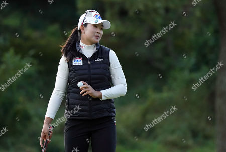 Stock Picture of A Kim Ye-rim of South Korea at the hole #1 during the second round