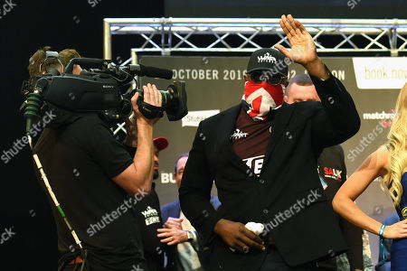 Dereck Chisora during a Weigh-In at East Wintergarden on 25th October 2019
