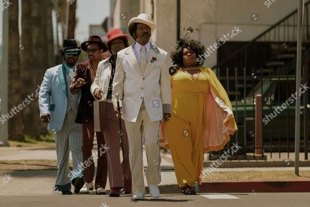 Craig Robinson as Ben Taylor, Mike Epps as Jimmy Lynch, Tituss Burgess as Theodore Toney, Eddie Murphy as Rudy Ray Moore and Da'Vine Joy Randolph as Lady Reed