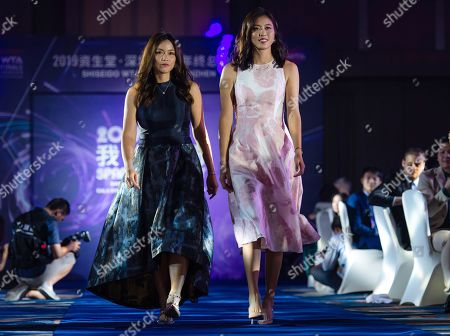 Chan Hao-ching & Latisha Chan of Chinese Taipeh during the draw gala