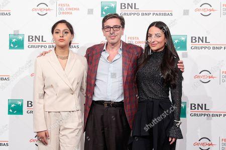 Pippa Bianco, Rhianne Barreto,with Antonio Monda, chief of Rome Film Fest