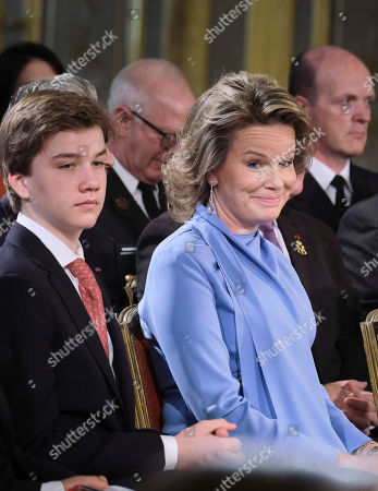Stock Picture of Prince Gabriel, Queen Mathilde