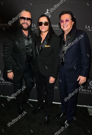 Desmond Child, Elvis Crespo and Rudy Perez