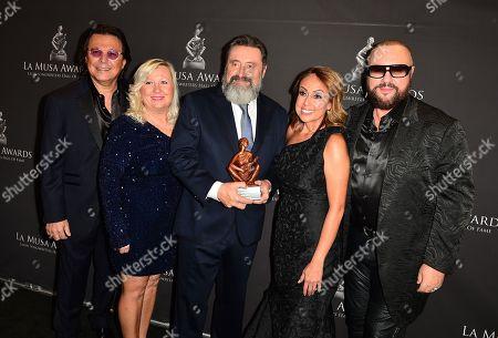 Rudy Perez, Betsy Perez, Jesus Lopez, Delia Orjuela and Desmond Child