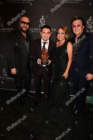 Desmond Child, Luciano Luna, Delia Orjuela and Rudy Perez