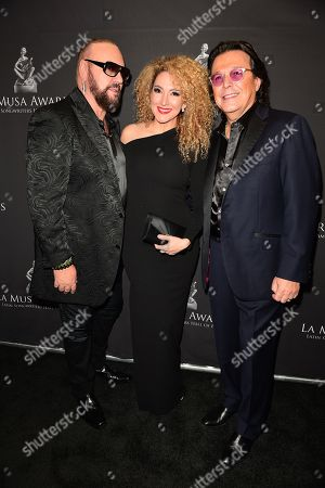 Stock Picture of Desmond Child, Erika Ender and Rudy Perez