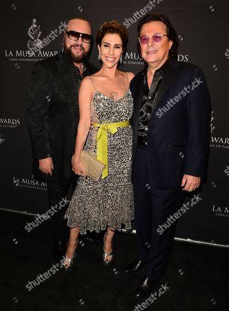 Desmond Child, Julieta Navarro and Rudy Perez
