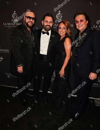 Desmond Child, Enrique Santos, Delia Orjuela and Rudy Perez