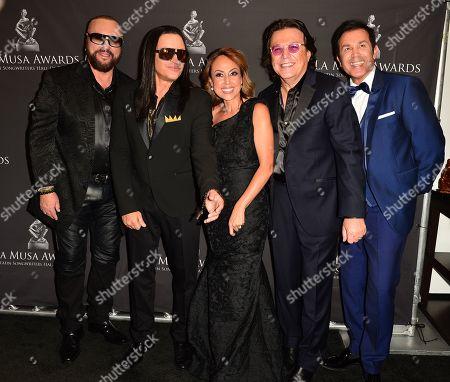 Stock Photo of Desmond Child, Elvis Crespo, Maribel Vega, Delia Orjuela and Rudy Perez