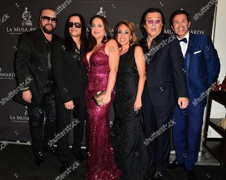 Stock Image of Desmond Child, Elvis Crespo, Maribel Vega, Delia Orjuela and Rudy Perez