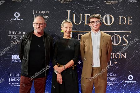 Isaac Hempstead Wright, Liam Cunningham and Michele Clapton