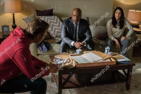Shane Johnson as Cooper Saxe, Ty Jones as Jerry Donovan and Lela Loren as Angela Valdes