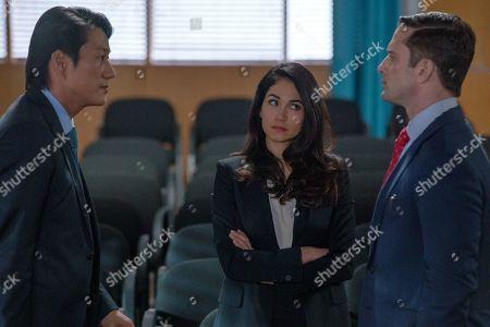 Sung Kang as John Mak, Lela Loren as Angela Valdes and David Fumero as Mike Sandoval