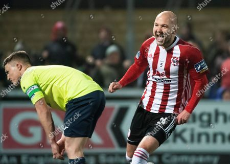 Stock Photo of Derry City's Grant Gillespie celebrates his goal