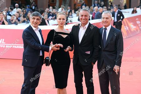 Vincenzo Salemme with Nancy Brilli, Massimo Ghini and Giampaolo Letta