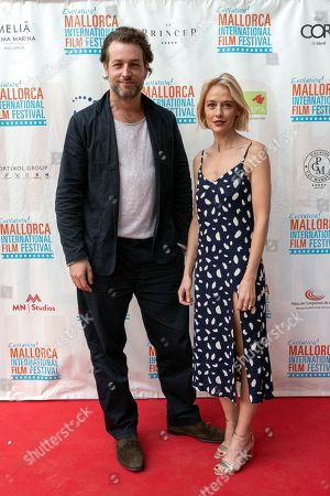 Stock Image of Austrian actor Julian Looman (L) and Welsh actress Elen Rhys pose during the presentation of the TV series 'The Mallorca Files' in the framework of the Mallorca Evolution! International Film Festival in Palma de Mallorca, Balearic Islands, Spain, 25 October 2019.