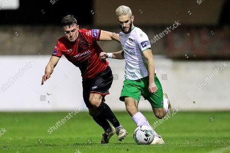 Drogheda United vs Cabinteely. Cabinteely's Kieran Marty Waters and James Brown of Drogheda