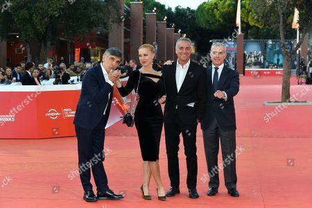 Vincenzo Salemme, Nancy Brilli, Massimo Ghini and Giampaolo Letta