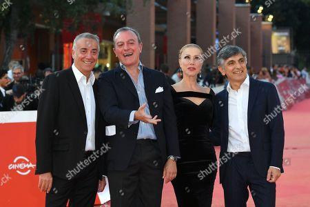 Stock Photo of Vincenzo Salemme, Nancy Brilli, Massimo Ghini and Giampaolo Letta