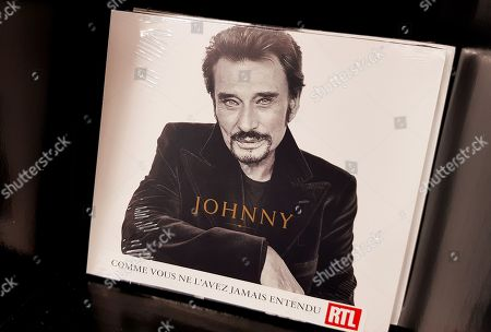 French singer Johnny Hallyday's second posthumous album is on display in Nice, France, 25 October 2019. Johnny Hallyday died on 05 December 2017 in Marnes-la-Coquette, near Paris.