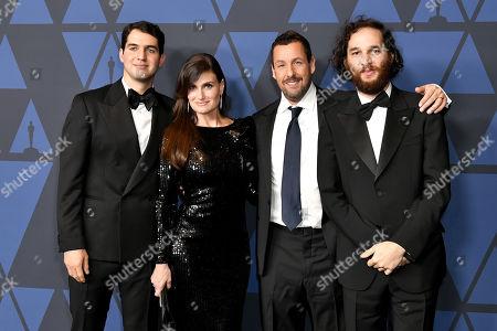 Ben Safdie, Idina Menzel, Adam Sandler and Joshua Safdie