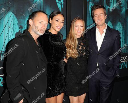 Thom Yorke, Dajana Roncione, Shauna Robertson and Edward Norton