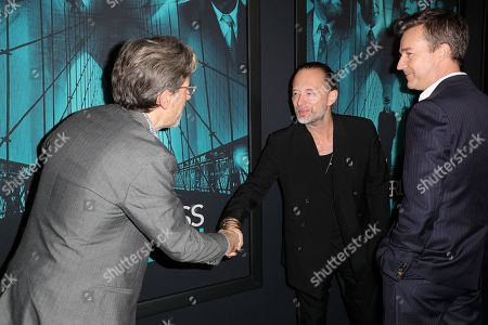 Stock Picture of Jonathan Lethem, Thom Yorke and Edward Norton