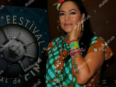Mexican singer-songwriter Lila Downs poses for a photo during an interview at the Morelia Film Festival, in Morelia, México