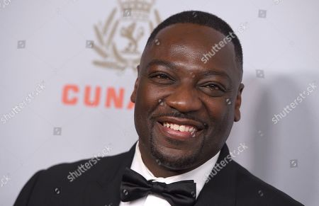Adewale Akinnuoye-Agbaje arrives at the BAFTA Los Angeles Britannia Awards at the Beverly Hilton Hotel, in Beverly Hills, Calif