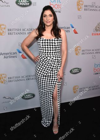 Chelsea Peretti arrives at the BAFTA Los Angeles Britannia Awards at the Beverly Hilton Hotel, in Beverly Hills, Calif